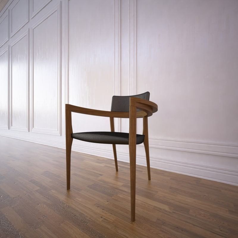 3d model of finezza dining chair