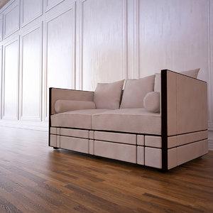 kim sofa guy 3d model