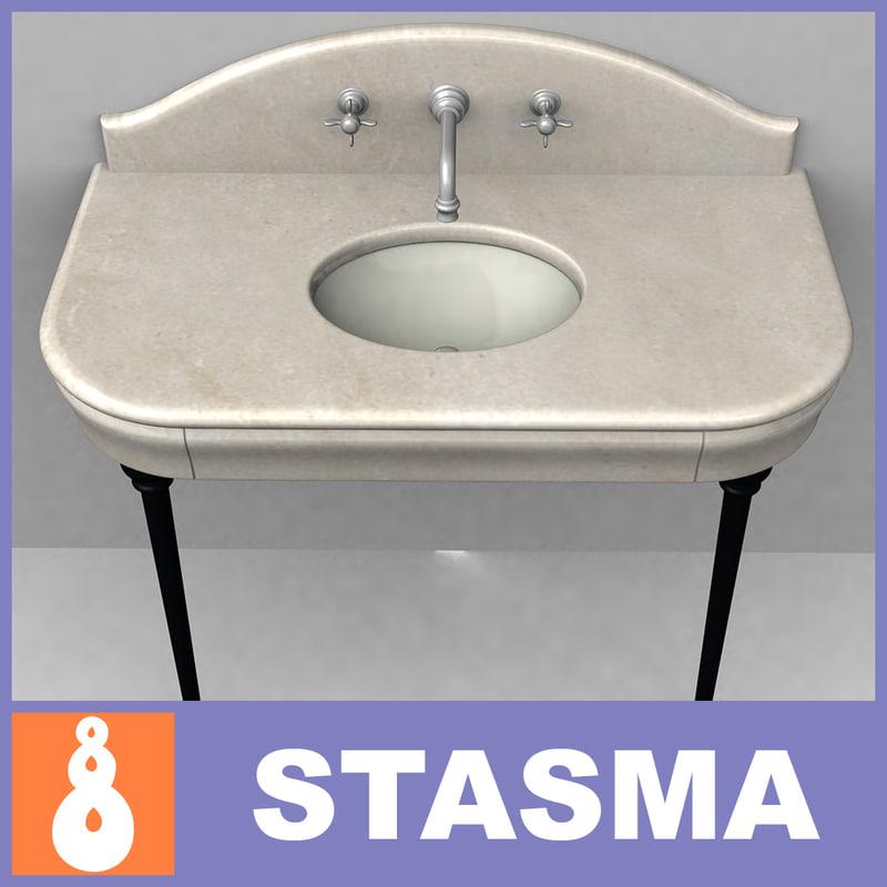 marble wash basin 3d max