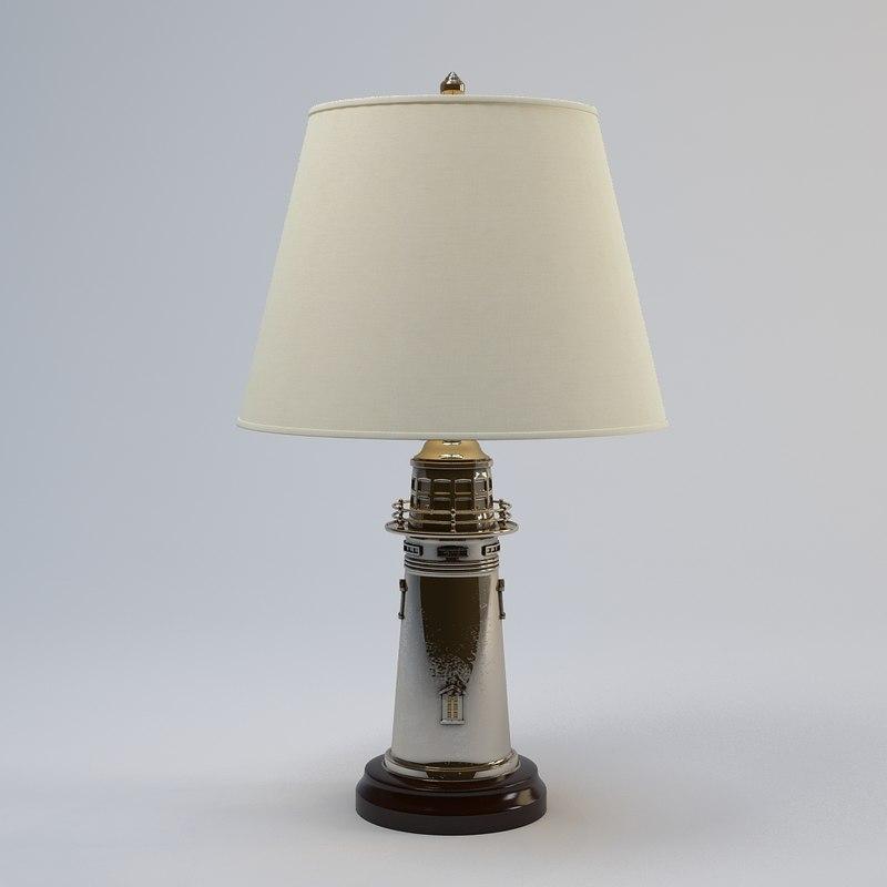 3d ralph lauren lighthouse lamp model