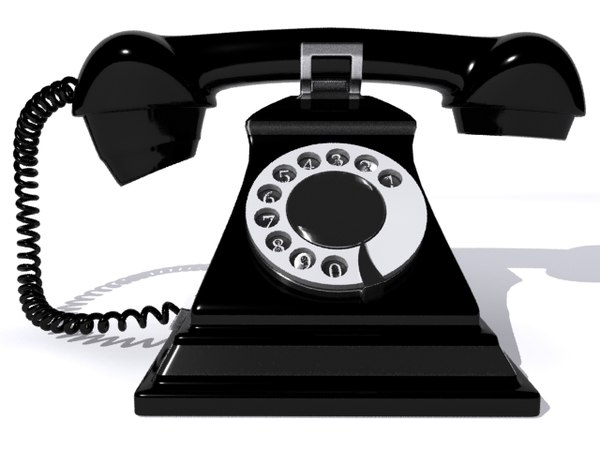 3d retro telephone model