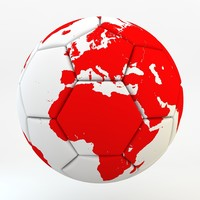 soccer ball earth realistic 3d max