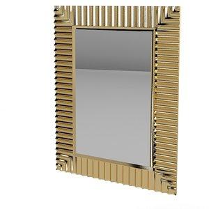 3d model wall mirror art