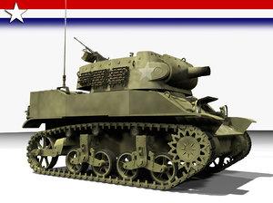 tank 75mm howitzer 3d model