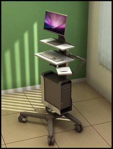medical mobile computer cart max