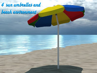 4 Beach umbrellas and beach environment