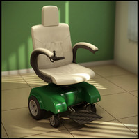 3d electric wheelchair