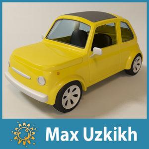 maya cartoon toy car