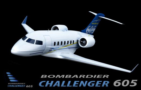 challenger 605 3d dxf