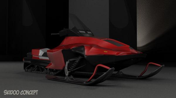 snowmobile skidoo 3d model