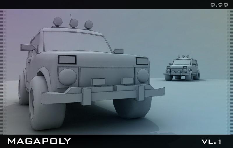 3ds max jeep car