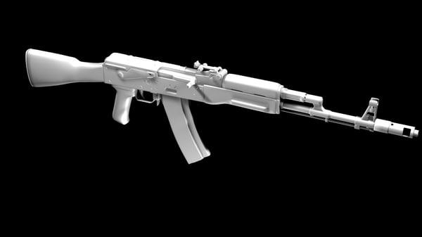 3d ak-74u