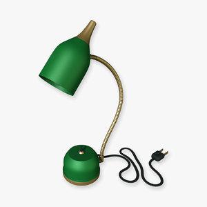 3d model of flexible machinist lamp