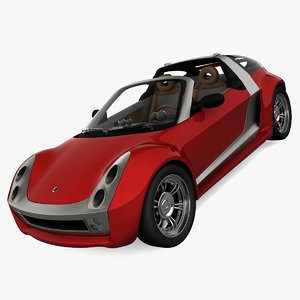 3d model realistic smart roadster coupe