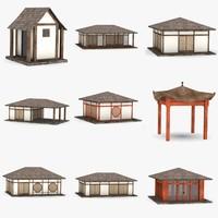 3d model japanese houses
