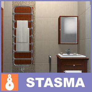 bathroom tiles 3d model