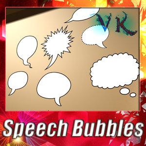 speech bubbles 3d model