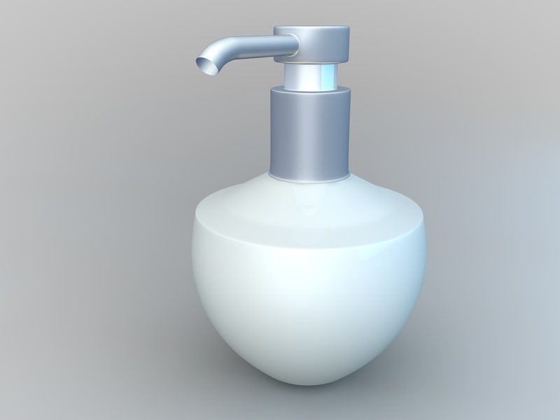 modern soap containers 3d model