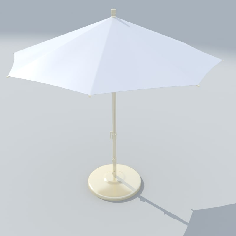 3d model outdoor umbrella