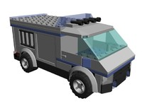 lego prisoner transport 3d max