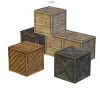 3d model crate box storage