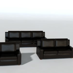 modeled leather 3d 3ds