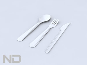 plastic knife spoon 3d 3ds