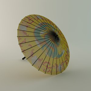 3d chinese umbrella model