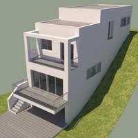3d model house contemporary