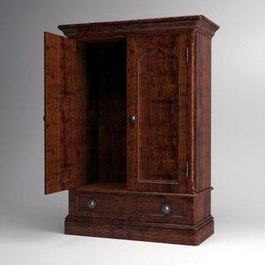 3d lwo armoire english style