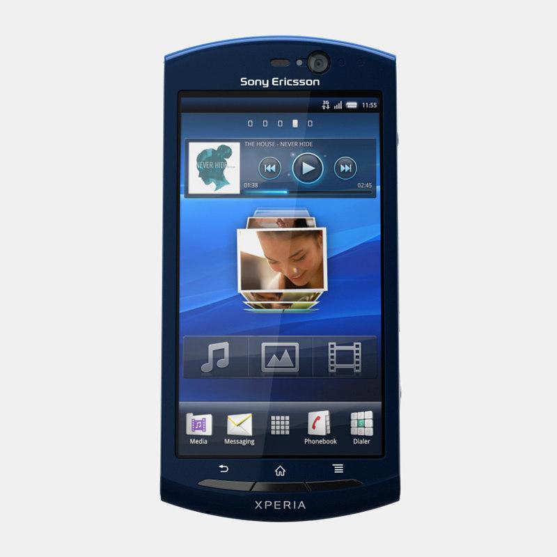 sony ericsson xperia 3d model
