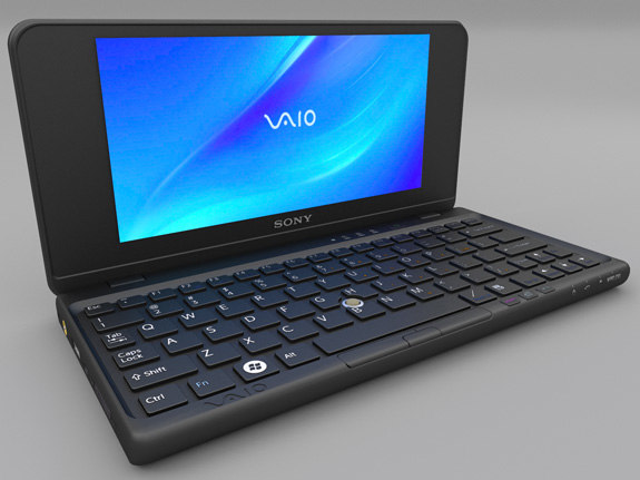 sony vaio p laptop 3d obj