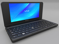 sony vaio p laptop 3d obj
