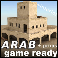 3d arab building ready house games model