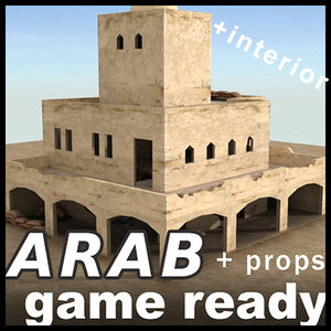 3d arab building ready house games model