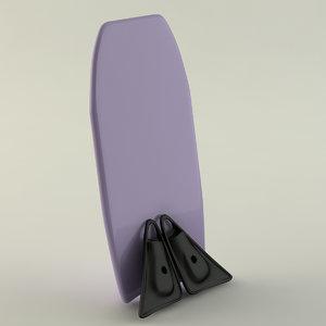 3d model bodyboard kit