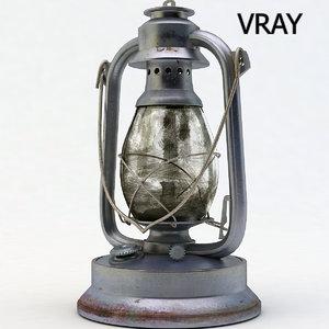 old lantern light 3d model