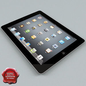 apple ipad2 3d max