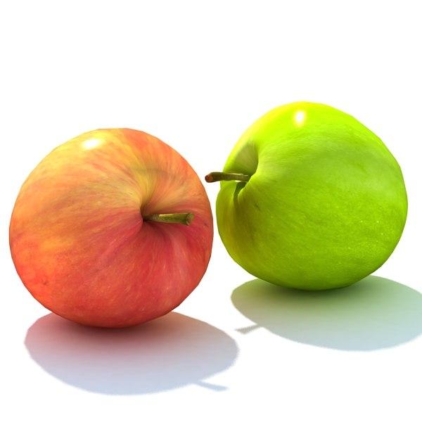 3d model of apple guava mango