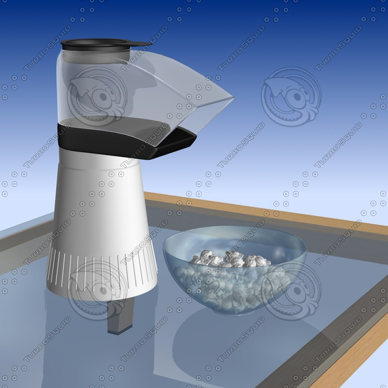 3ds max popcorn popper popped