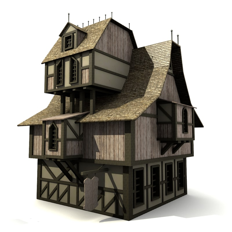 Medieval house x free for Build house online 3d free