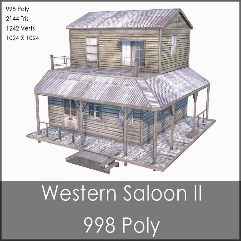 western saloon ii 3d max