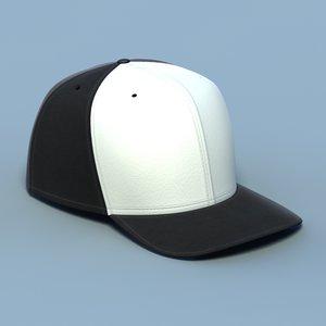 3d model baseball cap 02