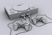 3d play station model