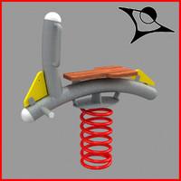 swing horse 3d model