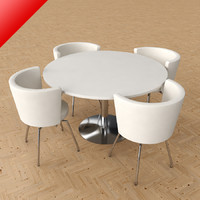 3d max circo dining table chairs