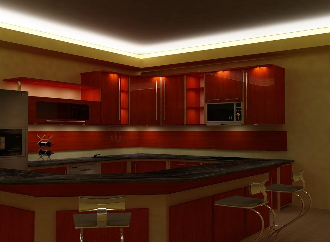 3d max kitchen room
