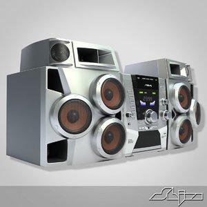 3d max music center aiwa jax