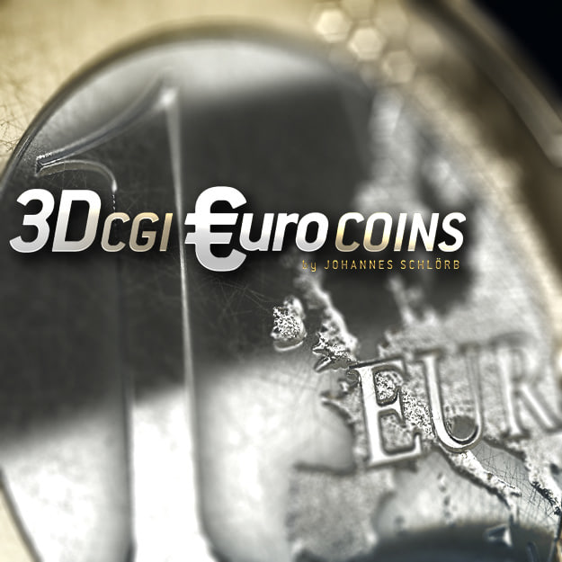 euro coins 3d model