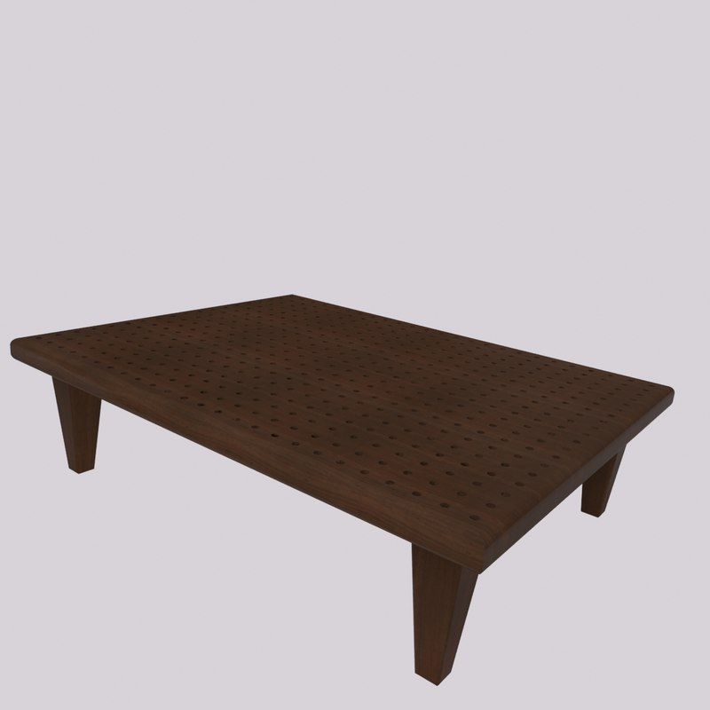 living coffee table 3d max